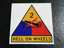 WW2 D-Day 2nd armoured Tank division Unit Patch Large Car Bumper vinyl Sticker