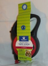 TOP PAW ~ RETRACTABLE TAPE LEASH ~ 10 FEET ~ X SMALL  UP to 20 POUNDS ~ RED *NEW