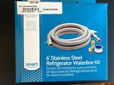 """New listing Smartchoce 72""""L Stainless Steel Water Connector Kit for Refrigerator Supply"""