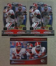 MATTHEW STAFFORD/KNOWSHON MORENO THREE ROOKIE CARD LOT 2009 PRESS PASS/SAGE HIT