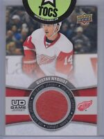 Gustav Nyquist 2015-16 UD Series One UD Game Jersey Detroit Red Wings