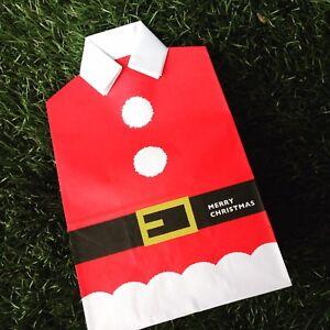 Christmas Xmas Party Gift Paper Bag Cute Santa Suit