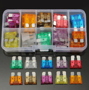 50X  Assorted Car Small Low Profile Fuse Box 5 7.5 10 15 20 25 30 A DIY Sales