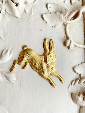Rabbit Stamping-rabbit finding-Faded fragments Rabbit raw brass Stamping-Running