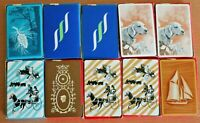 Vtg New 10 Avon Playing Card Decks United States Co Ship Giraffe Car Train Dog