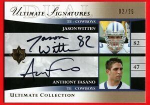 2006 ULTIMATE COLLECTION SIGNATURES JASON WITTEN & ANTHONY FASANO GOLD #D /25 SP