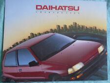 Daihatsu Charade range brochure 1989 USA market