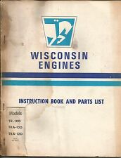 Wisconsin Engines Instruction Book and Parts List