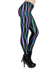 Cyberdog Electric Pinstripe Leggings SIZE S NEW