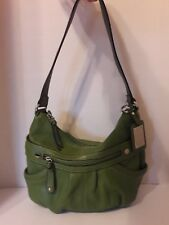 TIGNANELLO GREEN PEBBLED LEATHER SHOULDER HANDBAG WITH WALLET - NICE!!