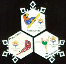 "2002 Olympic ""PANASONIC Events Set of 3"" Sponsor Pins"