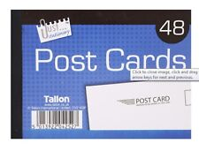 48 Plain White Blank Post Cards Pad Mail Mailing Holiday Competition - 4252