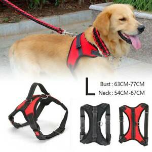 Non-Pull Dog Harness Vest Soft Padded Breathable Adjustable 3 Sizes -2Colours