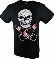 Stone Cold Steve Austin Drink Beer Skull Flag Mens Black T-shirt