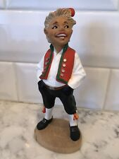 Vintage Henning Norway Hand Carved Ola Young Boy Scandinavian Figurine 6 Inches
