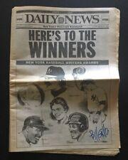 Bill Gallo Daily News Original Newspaper Signed Autograph CBM COA Don Mattingly