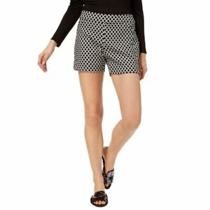 INC NEW Women's Printed Midrise Curvy-fit Pull On Shorts TEDO