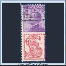 1924 Italia Regno Pubblicitari SINGER cent. 50 violetto e rosso n. 16  Usato [z]