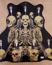 Pappaufsteller Skelette Kerzen Kerzenleuchter Gothic Halloween Deko 129217913