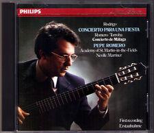 Pepe ROMERO: RODRIGO Concierto Para una Fiesta TORROBA Con de Malaga MARRINER CD
