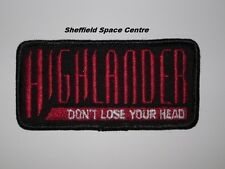 Highlander The Series TV Logo Don't Lose Your Head Patch P247