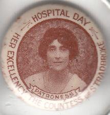 Hospital Day Countess of Stradbroke South Australia 22mm tin badge by Atkinson