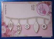 Wild Rose Studio 'Row of Baubles' Christmas Die SD035 🎄