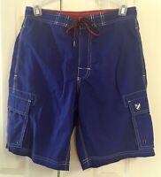 Men's Cremieux Blue Swim Shorts Trunks Size S