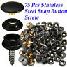 STAINLESS STEEL BOAT COVER CANVAS SNAP FASTENER REPAIR KIT- 75 PIECE SL MARINE