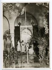 Marrakech : Palais de la Bahia, vue intérieure, c. 1935 - Photo ancienne Maroc