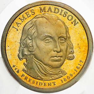 2007-S PRESIDENTIAL DOLLAR JAMES MADISON ICG PR70 DCAM FIRST STRIKE TONED (DR)