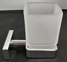 Cloakroom Frosted Tumbler Toothbrush Holder with Wall Mounting Bracket Bathroom