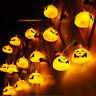 16 LED Pumpkin String Lights Halloween Home Decoration Party Indoor DIY Decor