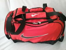 """NIKE CARRY ON OR OVER NIGHT BAG  ORANGE  11"""" HIGH 23"""" LONG 12.5"""" WIDE"""
