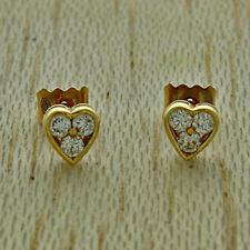 UK Hallmarked 18ct Yellow Gold 0.30ct Diamond Set Stud Earrings RRP £895 (JZ2)