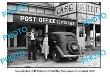 OLD LARGE PHOTO, MAROOCHYDORE QUEENSLAND, COTTON TREE POST OFFICE c1940