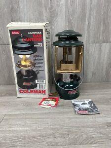 Vintage COLEMAN LANTERN Adjustable 2 Mantle Lantern Model 288A700 NEVER USED
