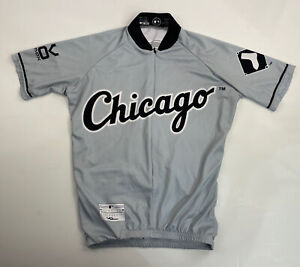 Chicago White Sox VOmax Cycling Jersey Mens XS 3/4 Zip
