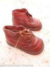 24074 anciennes chaussures enfants poupées Chaussures Cuir vint doll's shoes leather 17cm