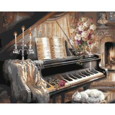 Piano Digital Oil Painting DIY Paint By Numbers Kit On Canvas Art Home Decor