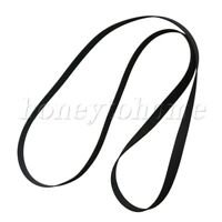 2pcs Black Rubber Record Player Turntable Belt for Turntable Gramophone Recorder