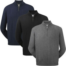 FootJoy Mens 1/2 Zip Lambswool Golf Pullover Sweater