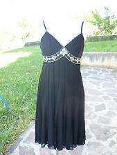 NUOVO ECI New York  vestito donna con spalline nero taglia 42