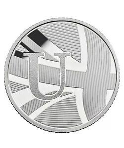 Rare 2018 Alphabet A-Z 10p Ten Pence Coin U - Union Jack From Sealed Bag