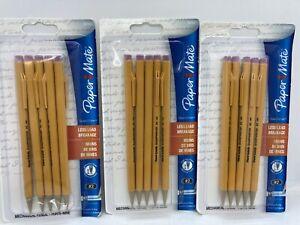 3 Packs Paper Mate SharpWriter Mechanical Pencils 0.7 mm #2 ~ 15 Pencils
