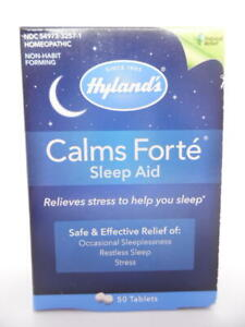 Hyland's Calms Forte Sleep Aid Homeopathic Safe & Effective - 50 Tablets