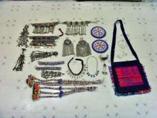 Vintage Kuchi tribal Wedding jewelry dowry lot choker anklets belly dance 49675