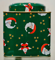 Christmas Santa Claus Tin Container
