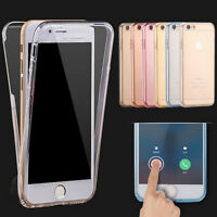 Front and Back Soft Clear Transparent Flexible Shockproof TPU GEL Case Mobiles
