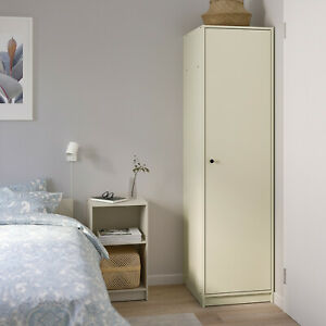 Top Wardrobe With 1 Door, Wardrobe, Clothing Closet, Clear Beige 49x55x186 CM